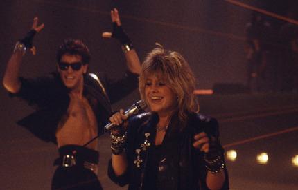 """Pernilla Wahlgren sjöng """"Piccadilly Circus"""" 1985 och kom fyra."""