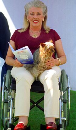 """""""Kanga"""" blev rullstolsbunden den sista tiden av sitt liv."""