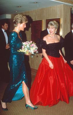"""Prinsessan Diana och """"Kanga"""" var vänner, båda gick bort 1997."""