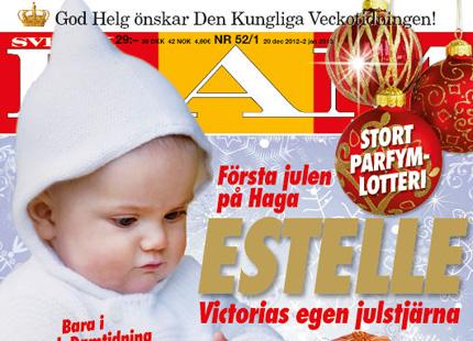 Madeleine skickar julhalsning fran haga