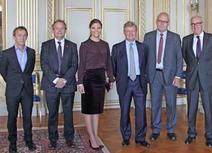 Kronprinsessan Victoria tog emot på slottet | Svensk Dam