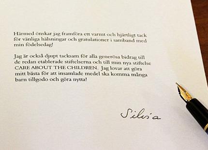 hjärtligt tack för alla gratulationer Silvia tackar för alla gratulationer på födelsedagen | Svensk  hjärtligt tack för alla gratulationer