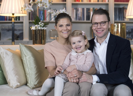 Crown Princess Victoria and Prince Daniel with their daughter Princess Estelle