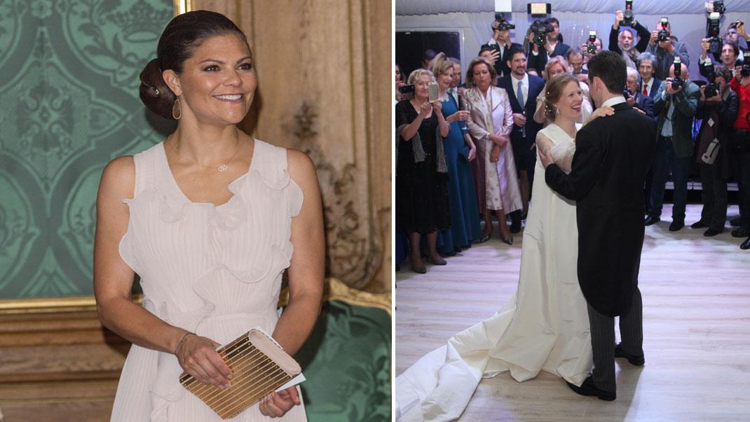 Kronprinsessan på bröllop i Serbien - se bilderna!