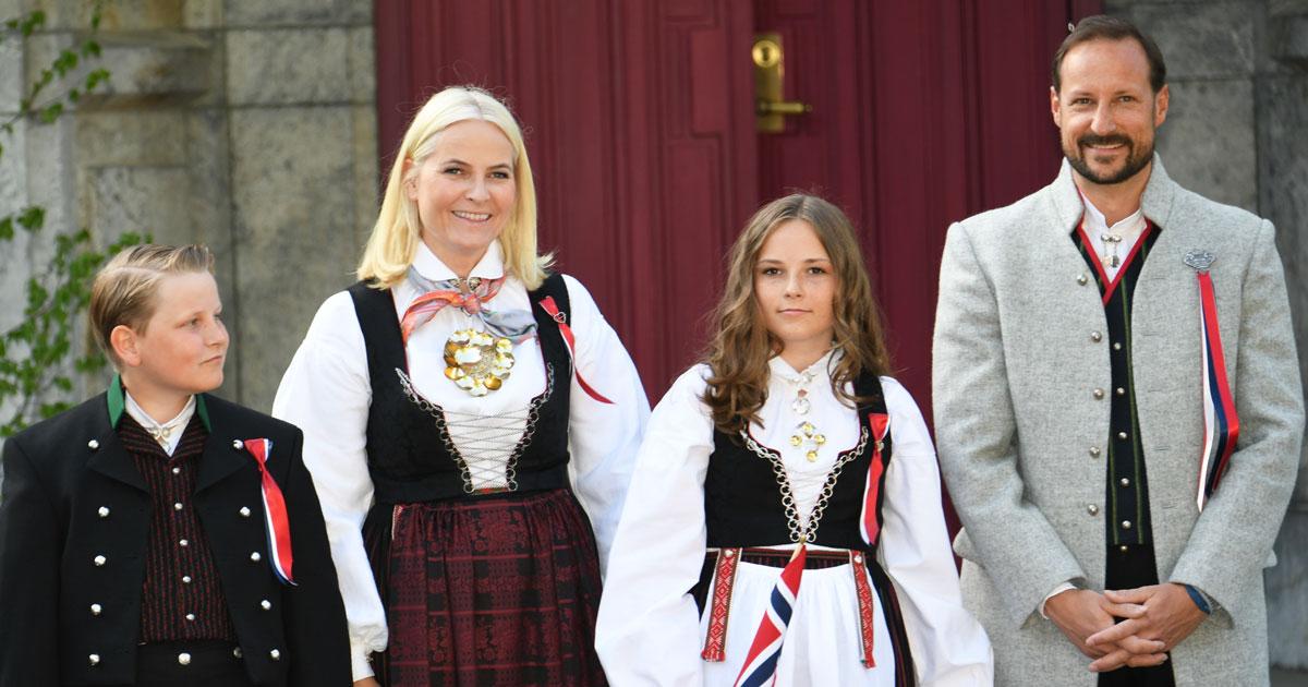 Se bilderna från norska kungafamiljens nationaldagsfirande!