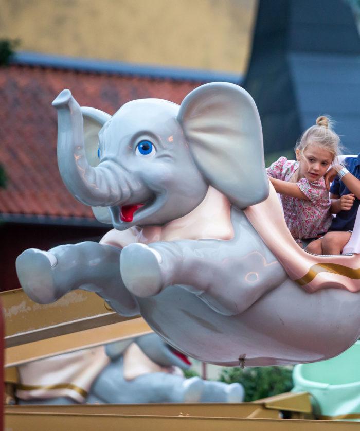 Crown Princess Victoria, Princess Estelle, Caroline Dinkelspiel and her two sons visited Gröna Lund amusement park