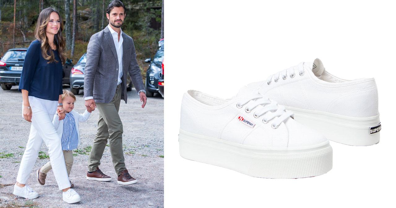 Här har Sofia hittat sina vita platå sneakers! | Kungliga