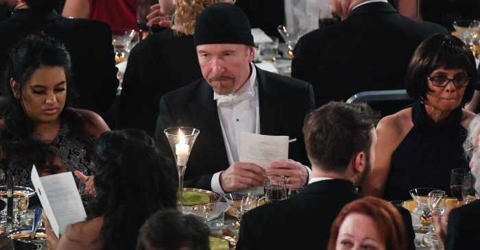 """The Edge"", gitarrist i U2, på Nobelfesten 2018"