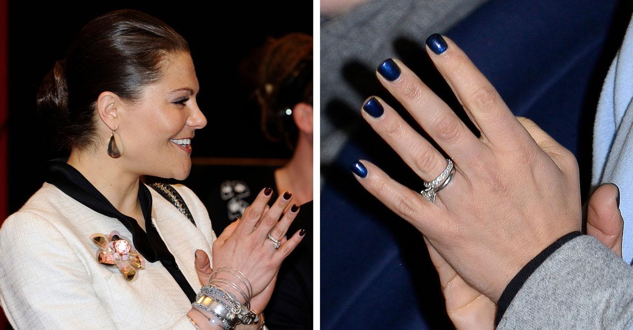 Kronprinsessan Victoria mörka naglar