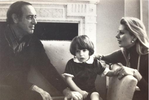 Chris O'neill med sina föräldrar Eva O'neill och Paul O'neill.