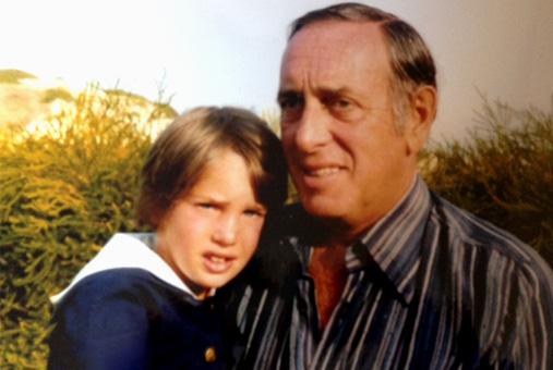 Chris O'neill med sin pappa Paul O'neill.