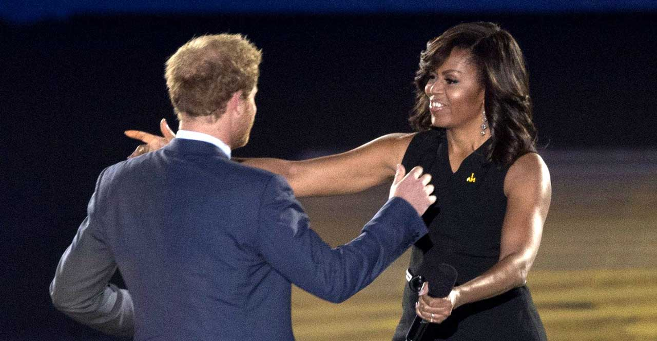 Michelle Obamas överraskande hälsning till Harry och Meghan