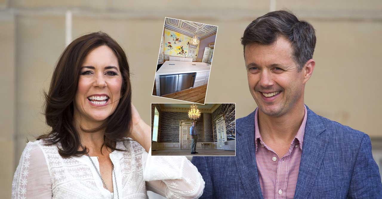 Se den coola designkrocken hemma hos Mary och Frederik!