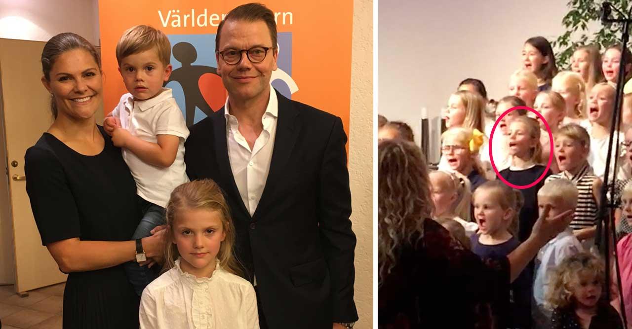 Kördebut för prinsessan Estelle – med mamma och pappa i publiken!