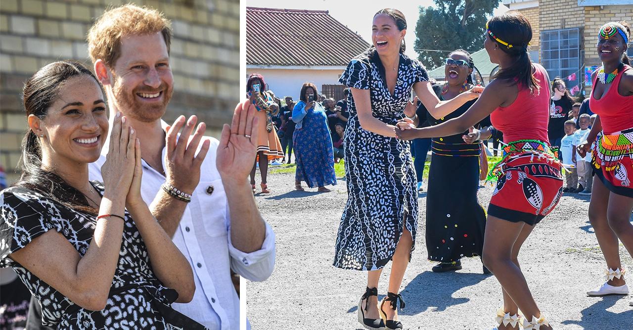 Se de härliga bilderna! Harrys och Meghans kärleksdans i Afrika