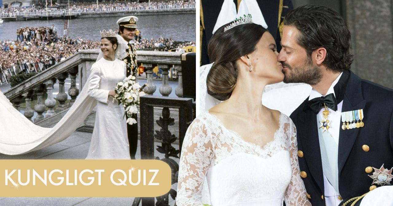 Quiz! Vad kan du om de kungliga bröllopen?