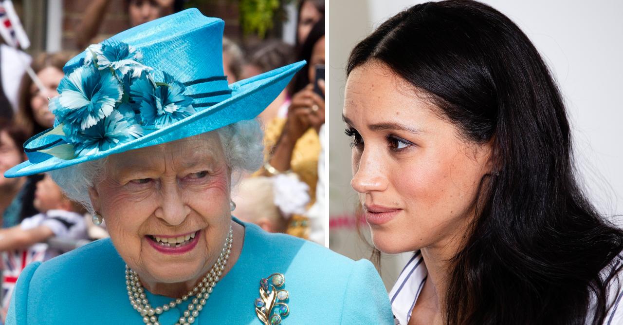 drottning elizabeth sätter ner foten för meghan markle