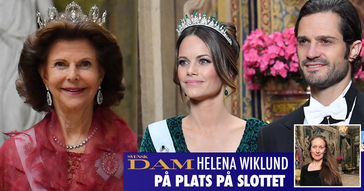 Drottning Silvia, prinsessan Sofia och prins Carl Philip vid kungamiddagen på slottet.