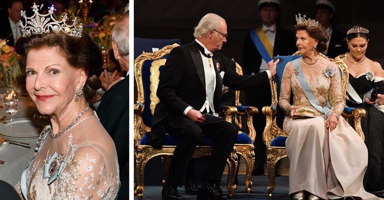9 magiska bilder på drottning Silvia från Nobel 2019