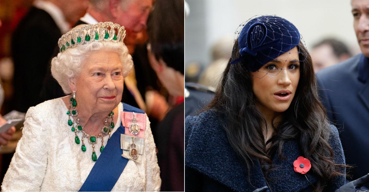 Därför dök inte Meghan upp på drottningens middag