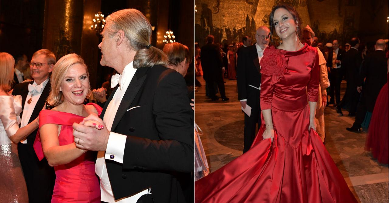 Se festbilderna från Nobelnatten – här chockar Magdalena Andersson