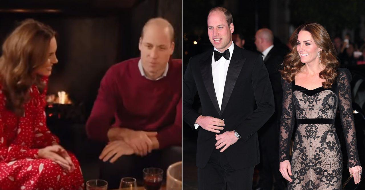 Klippet som visar sprickan mellan Kate och William