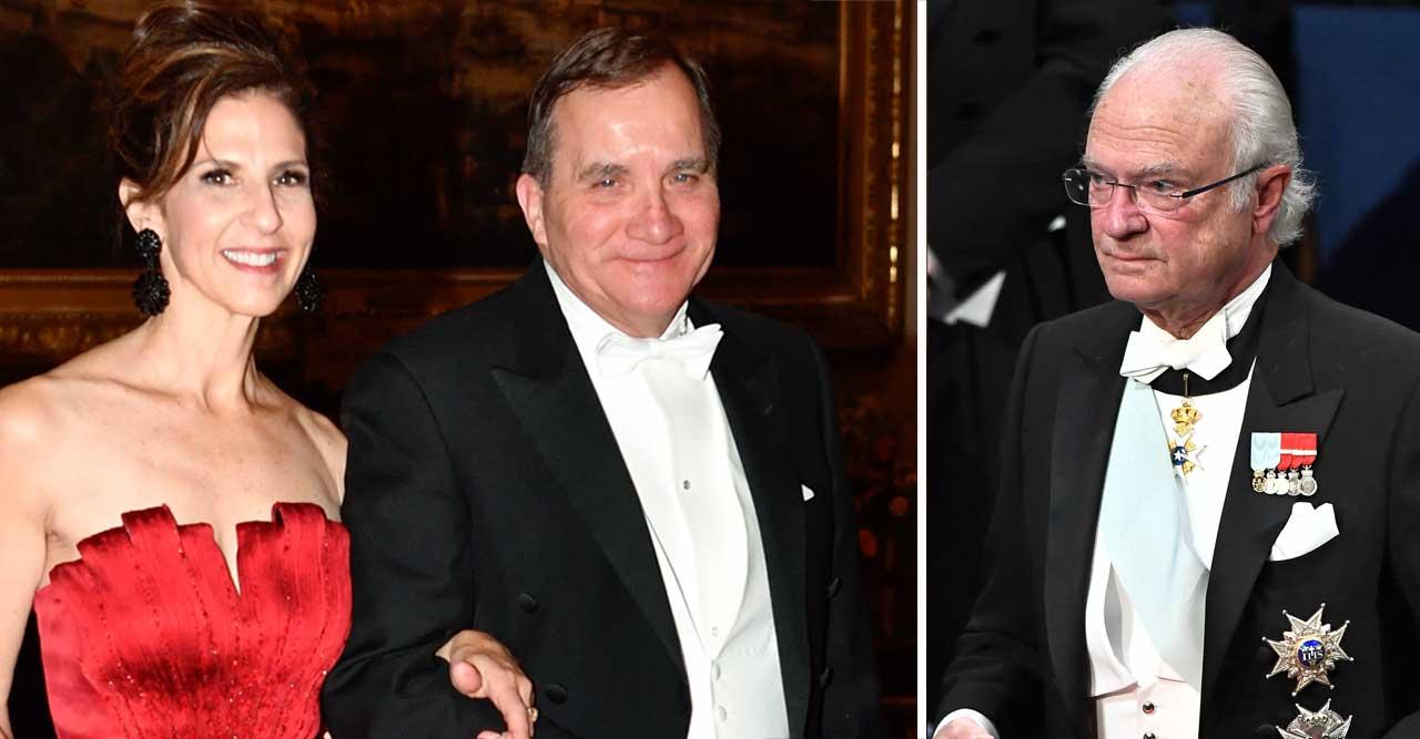 Löfvens tabbe på Nobel 2019 – mitt framför kungen!