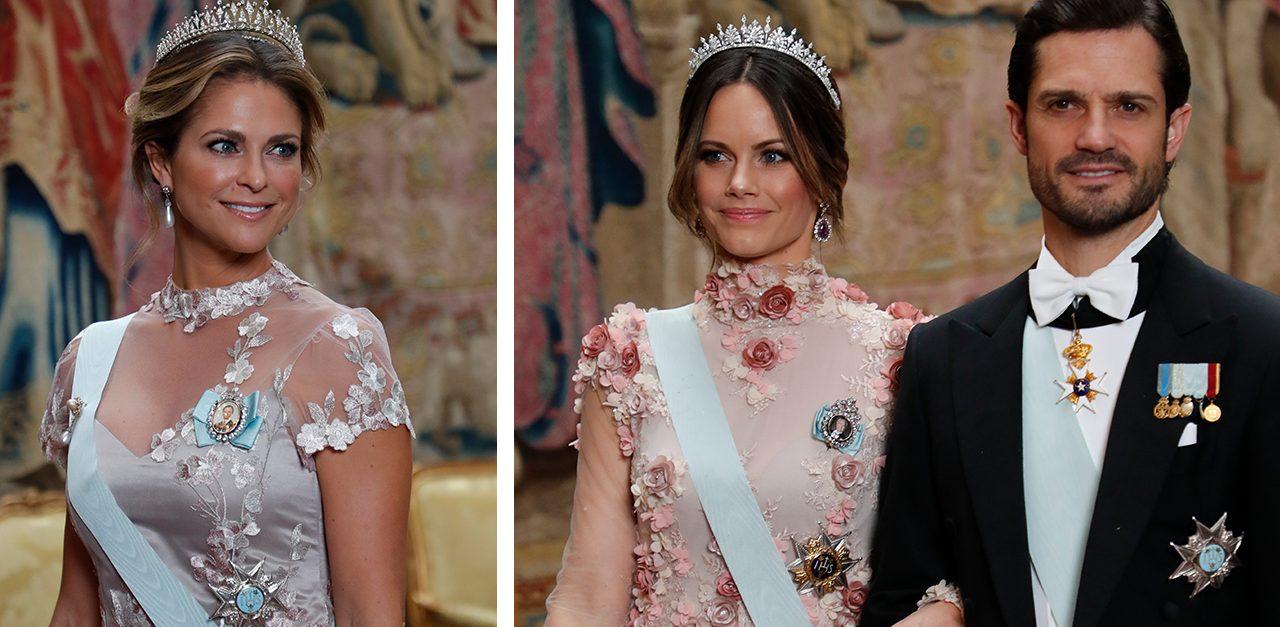 Just nu! Madeleines och Sofias krock – på kungens Nobelmiddag