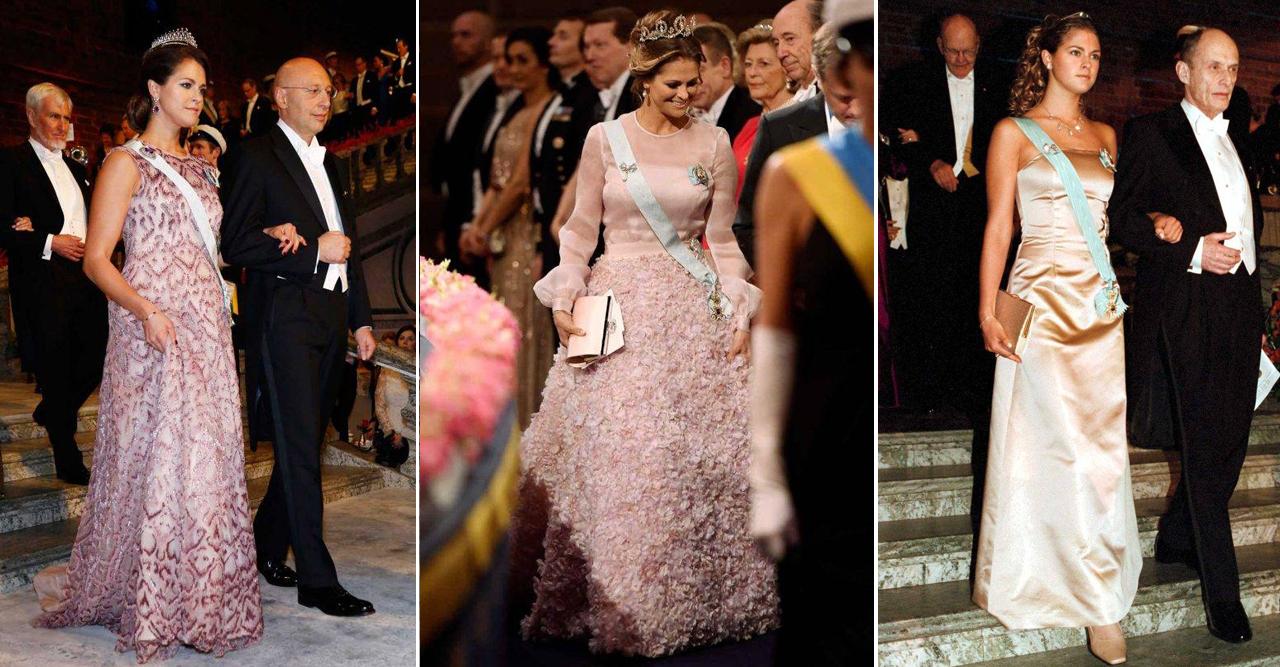 Prinsessan Madeleines alla nobelklänningar
