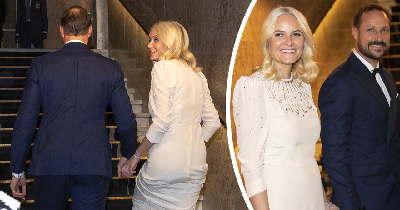 kronprinsessan mette-marit och kronprins haakon nobelbanketten