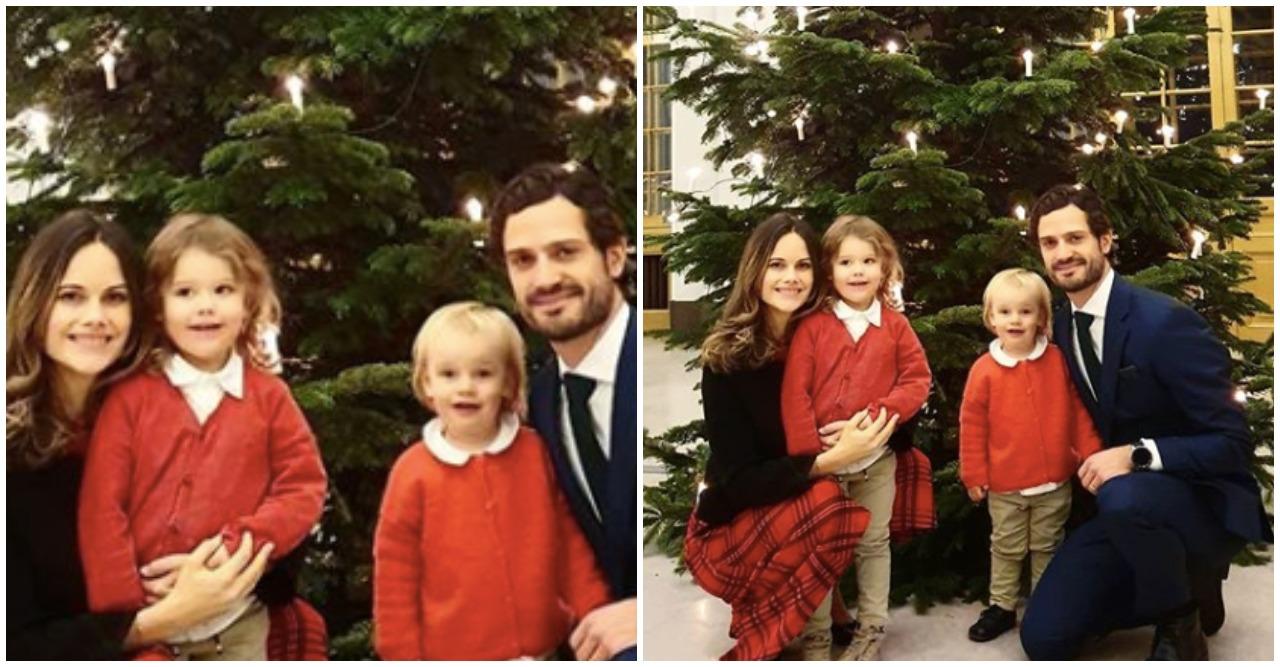 Prins Carl Philip och prinsessan Sofia har lagt upp en julmysig bild.