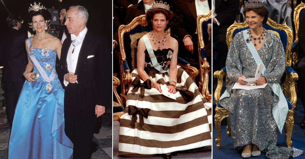 drottning silvias alla nobelklänningar