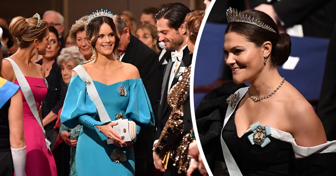 Nobel 2019: Här är prinsessornas Nobelklänningar