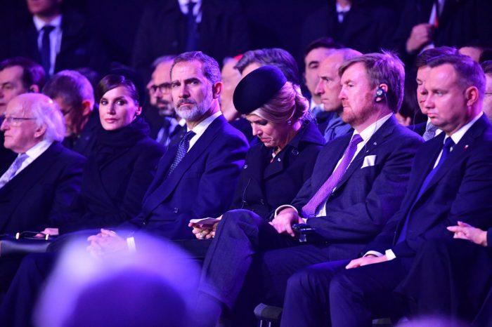 Drottning Máxima i tårar vid minneshögtiden i Auschwitz.