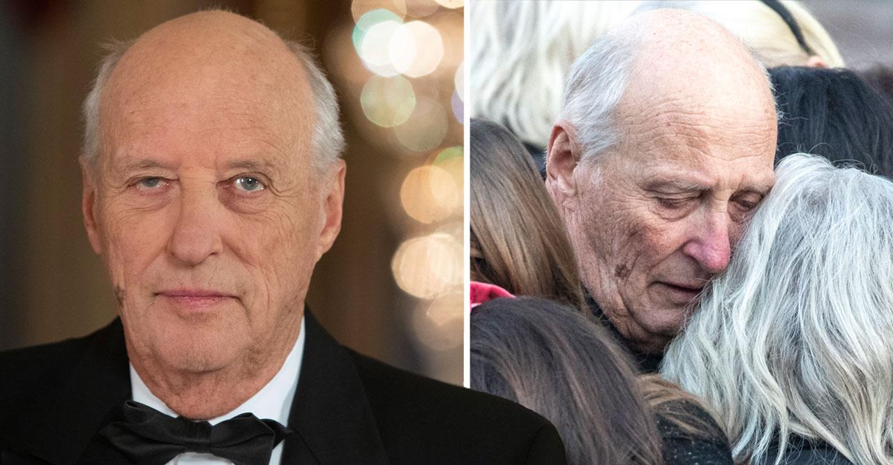 Just nu! Kung Harald förd till sjukhus – efter Ari Behns död