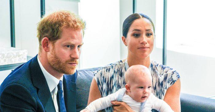 Harry och Meghan visar stolta upp sonen Archie.