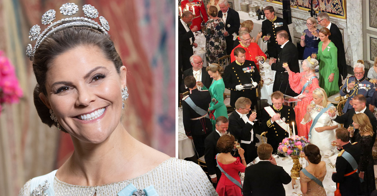 Margrethes jättefest – med kungaparet och Victoria!