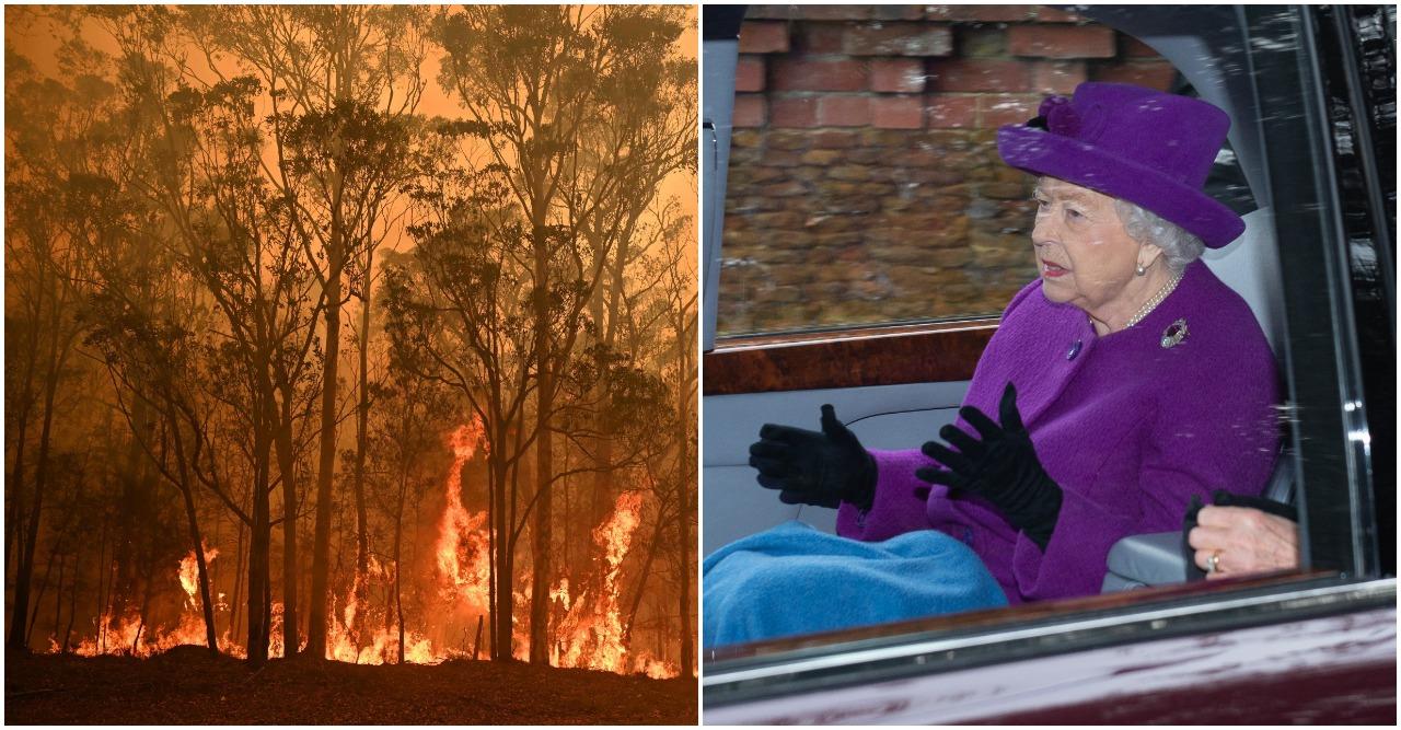 Drottningen är oroad för bränderna i Australien.