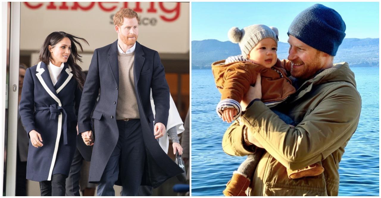 Prins Harry visar upp sonen Archie.