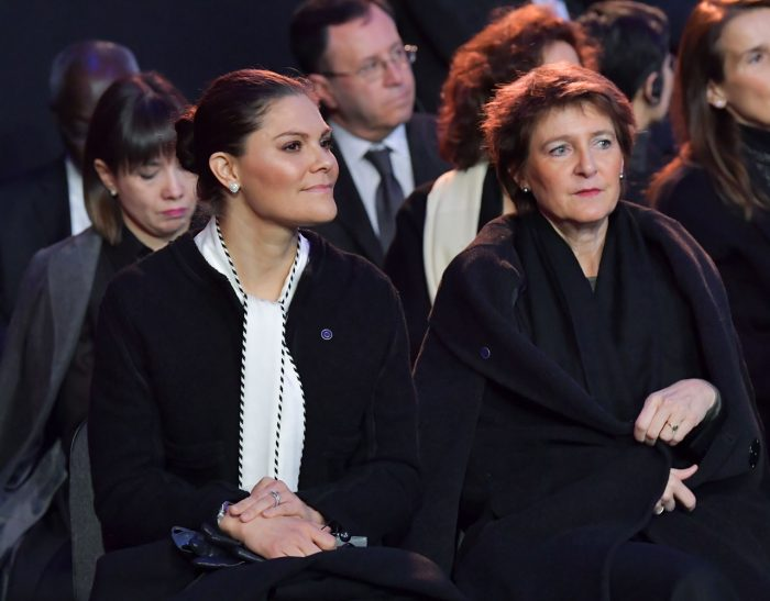 Victoria i Auschwitz, här med Schweiz president Simonetta Sommaruga.
