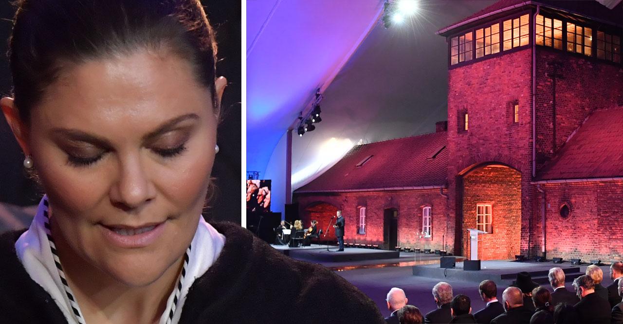 Victoria hedrade förintelsens offer i Auschwitz