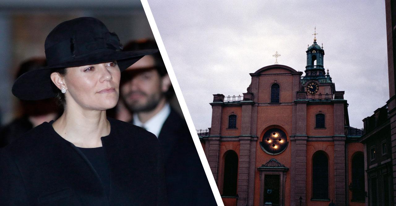 Blixtbesked från hovet: Victoria till minnesstund i Storkyrkan