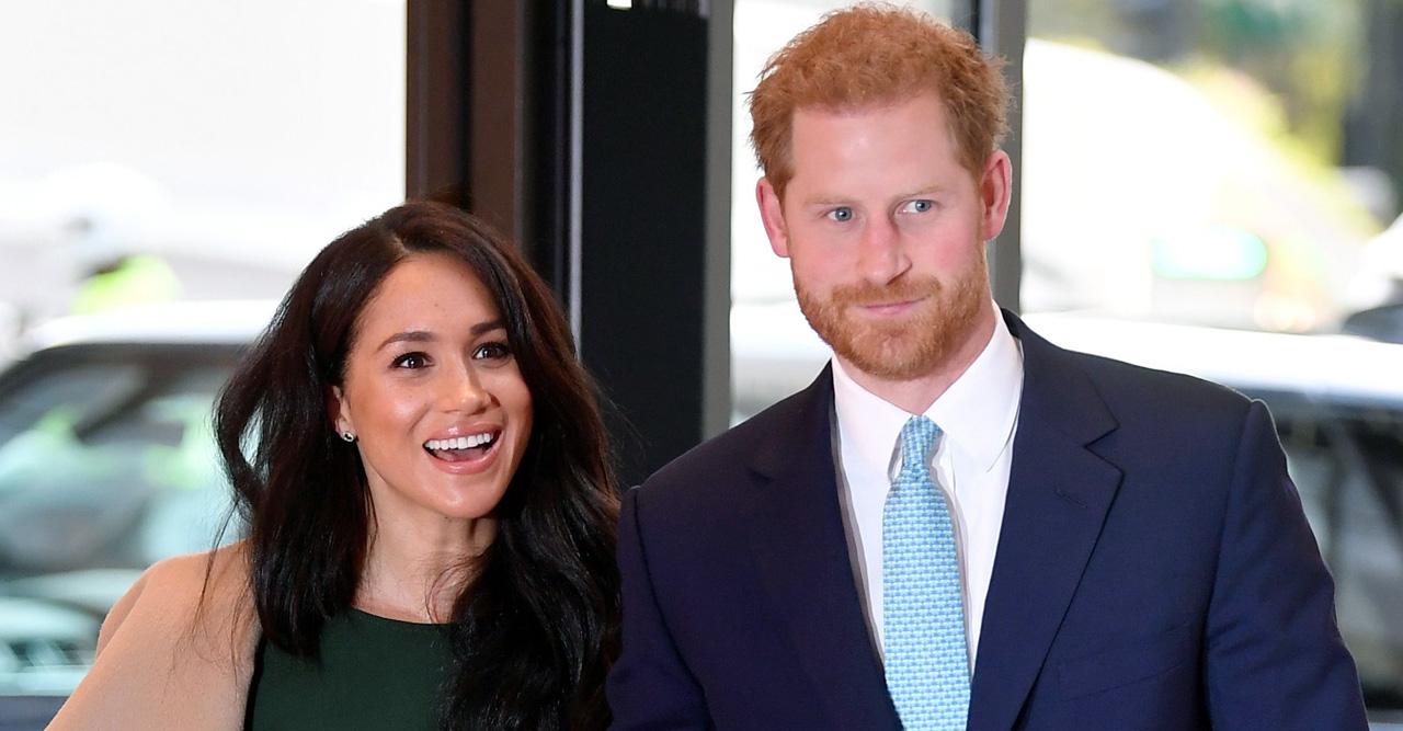 Harry och Meghan är på tillfällig visit i England.