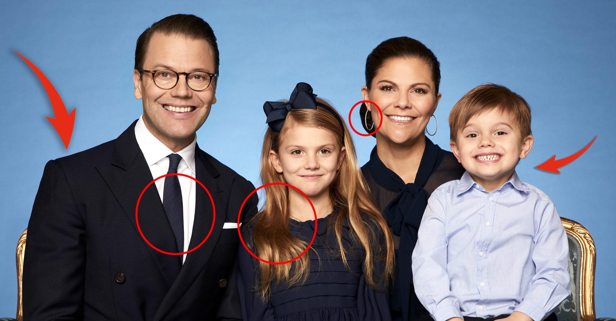 Detaljerna i nya bilden på Victoria och familjen