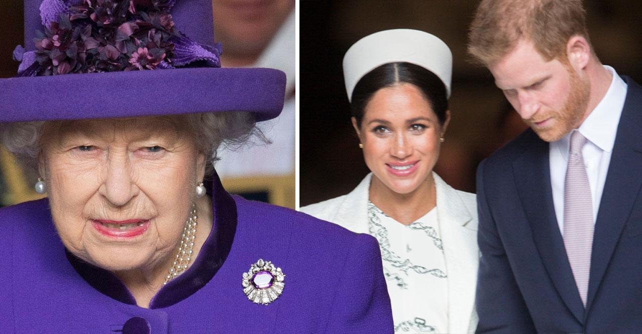 Drottning Elizabeth kallar hem Meghan och prins Harry.