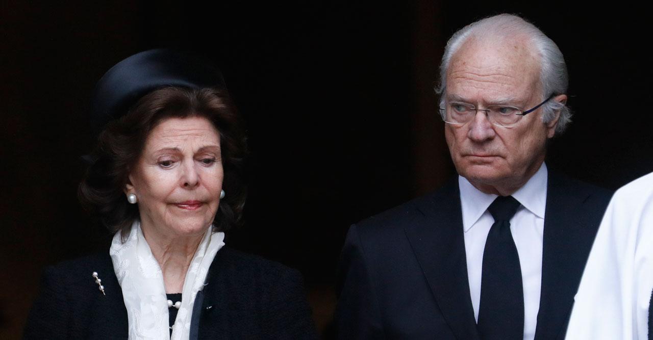Kungaparet på Dagmar von Arbins begravning 2020.
