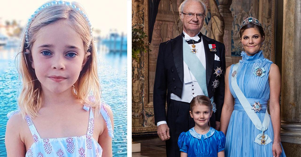 Prinsessan Leonore, prinsessan Estelle, kronprinsessan Victoria och kungen.