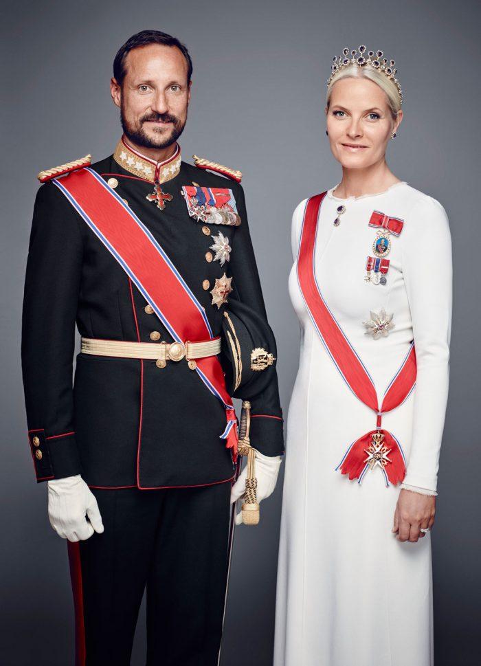 Kronprinsessan Mette-Marit och kronprins Haakon.