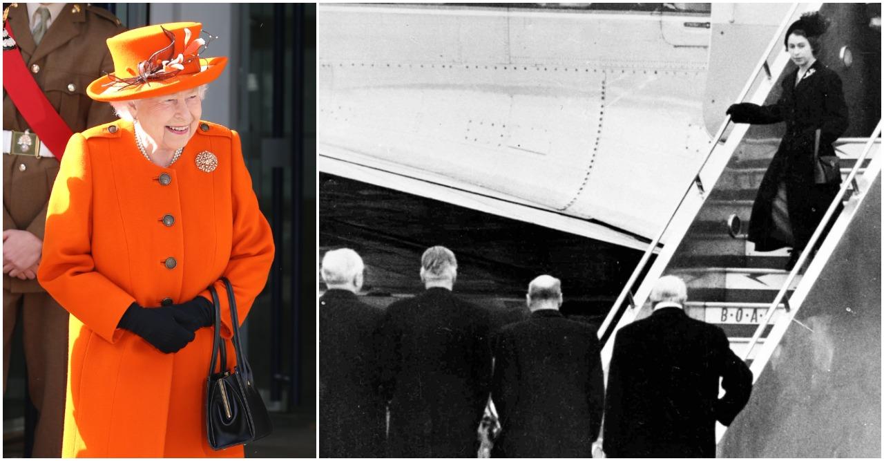 Drottning Elizabeth var på resa i Kenya då hennes far dog.