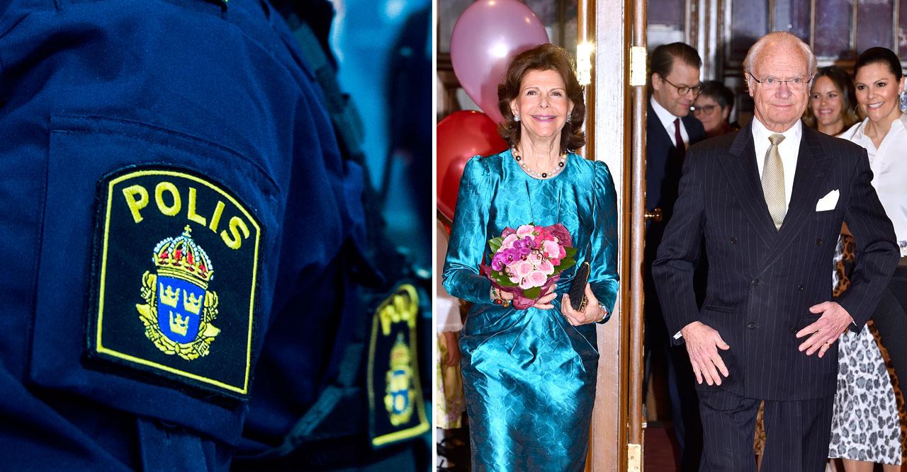 Stora förvirringen: Kungen och Silvia stoppade av polisen